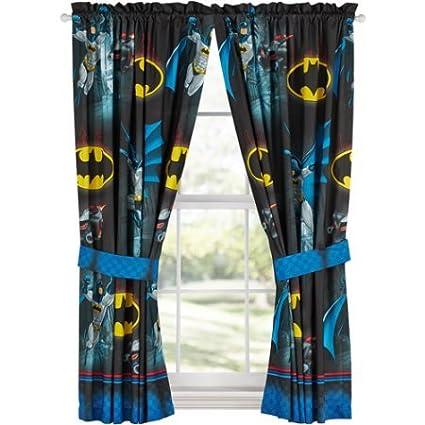 Batman \'Safe Again\' Boys Bedroom Curtains