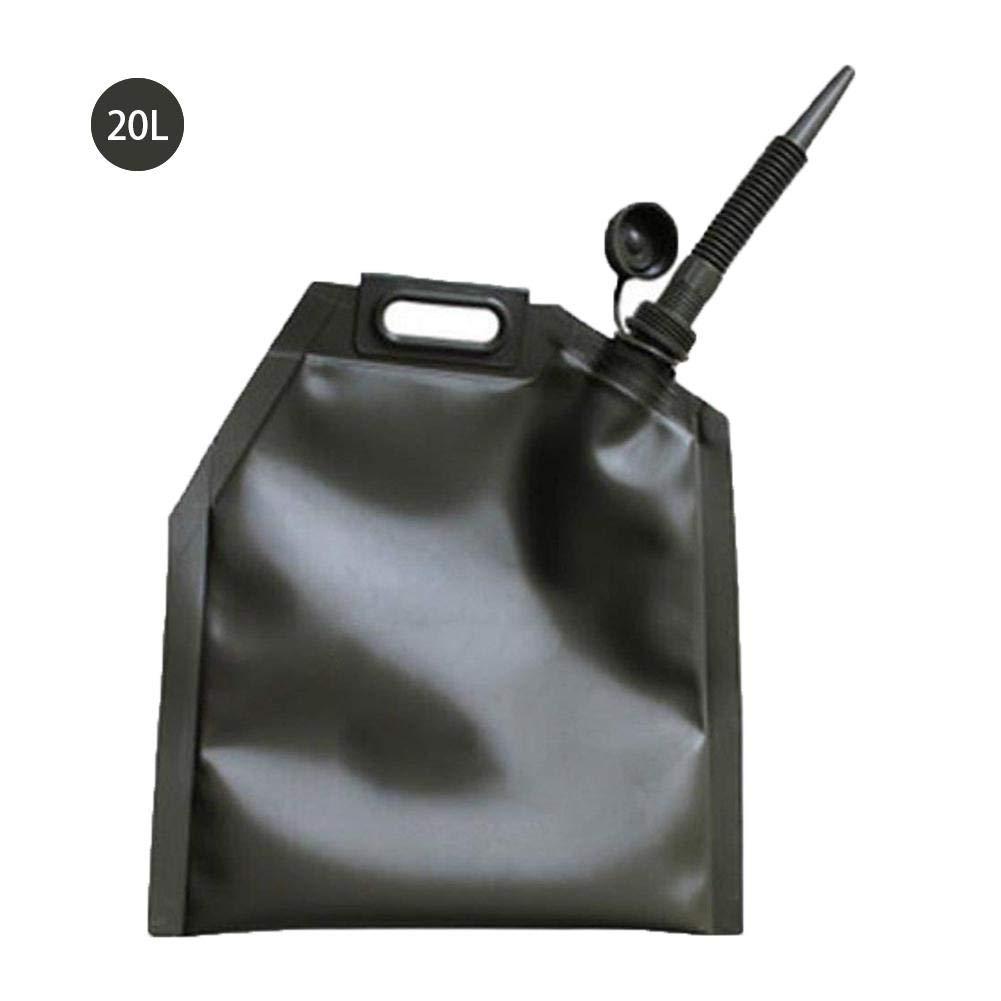 feiledi Trade R/éservoir de Carburant en Plastique 10L 20L 30L r/éservoir de Carburant de Moto de Voiture de Rechange bidon /à Huile Pliable portatif