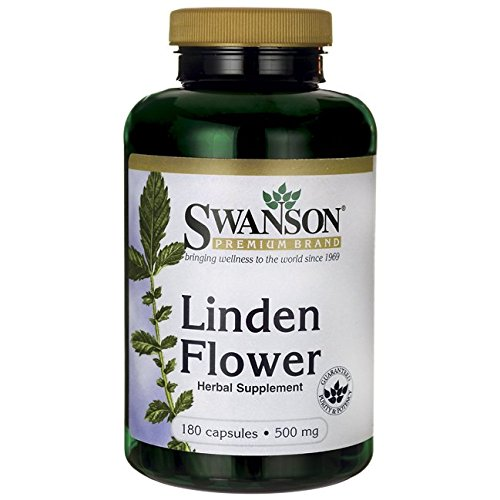 Swanson Linden Flower Immune System Cardiovascular Healthy Stress Response Support Herbal Supplement 500 mg 180 Capsules (Caps) (Linden Counter)