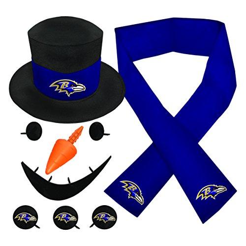 NFL Baltimore Ravens Snowfan Snowman Kit Nfl Baltimore Ravens Snowman