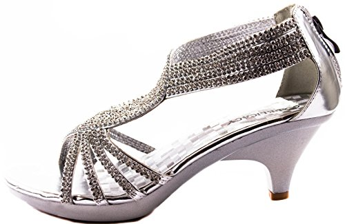 Delicacy Shoes Womens Angel-37 Silver Kitten Heels Pumps 5 D(M) US 5ZSUAmWdg