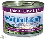 Natural Balance Canned Dog Food, Lamb and Rice Recipe, 12 x 6 Ounce Pack, My Pet Supplies