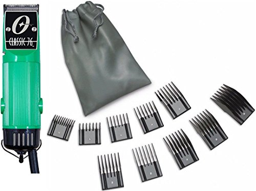 New Oster Classic 76 Green Color Limited Edition Hair Clipper +10 PC Comb Set by Oster
