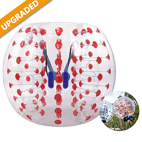 Hurbo Inflatable Bumper Ball Bubble Soccer Ball Giant Human Hamster Ball for Adults and Kids (Red Dot) (Bubble Soccer Balls For Adults)