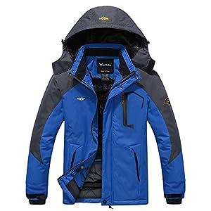 Wantdo Men's Waterproof Mountain Jacket Fleece Windproof Ski Jacket US S Sky Blue S