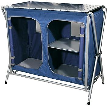 Ferrino Quick Kitchen Plus Meuble De Cuisine De Camping Pliant Couleur Bleu