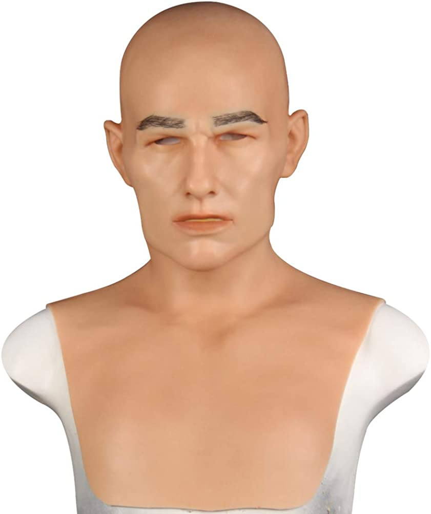 Yuewen Bell Realistic Silicone Face Hea Man Youth Ranking TOP5 Halloween Mask Lowest price challenge