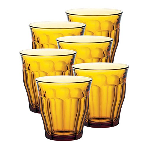 Duralex Set of 6 Picardie Tumblers, Clear, 10.5-Oz.