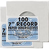 (200) Archival Quality Acid-Free Heavyweight Paper Inner Sleeves for 7 Vinyl Records #07IW