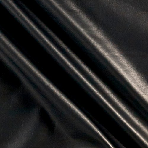 Ben Textiles Foil Lame Knit Spandex Dull Black Fabric by The -