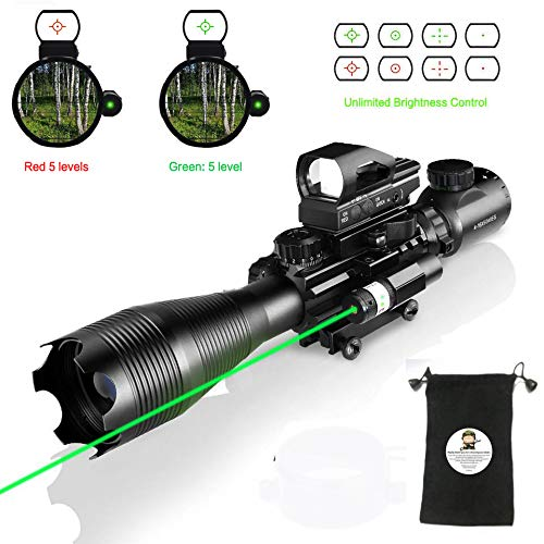 Scope Combo C4-16x50EG with  4 Holographic Red&Green Dot ()