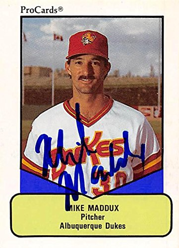 Mike Maddux Autographed Baseball Card Minor League