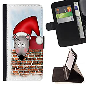 - Mouse - - Premium PU Leather Wallet Case with Card Slots, Cash Compartment and Detachable Wrist Strap FOR Sony Xperia m55w Z3 Compact Mini King case