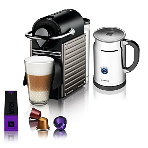 pixie nespresso machine bundle. Black Bedroom Furniture Sets. Home Design Ideas