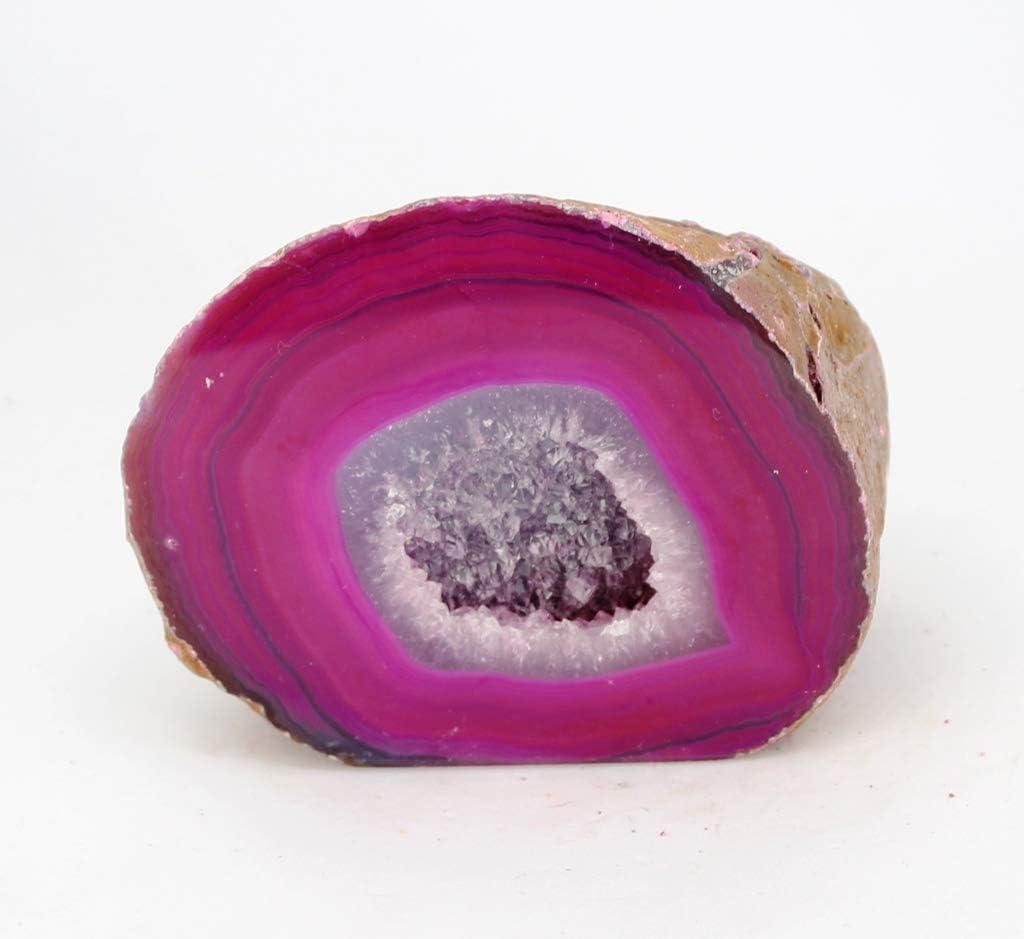 Piedra / Mineral / Geoda de ÁGATA - Preciosa Geoda de Las Minas del Brasil - Calidad Extra - Medidas: Peso 450-550 g/Altura 6-10 cm/Anchura 5-8 cm/Profundidad 6-8 cm