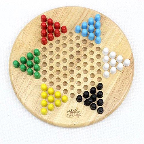 Kayiyasu カイヤス キッズ 五目ならべ 両面 木製おもちゃ 連珠 知育玩具 チェッカー ダイヤモンドゲーム 021-lzgy-070(直径25cm 約750g )の商品画像