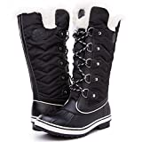 Kingshow Women's Globalwin Black1711 Waterproof Winter Boots - 8.5 D(M) US Women's