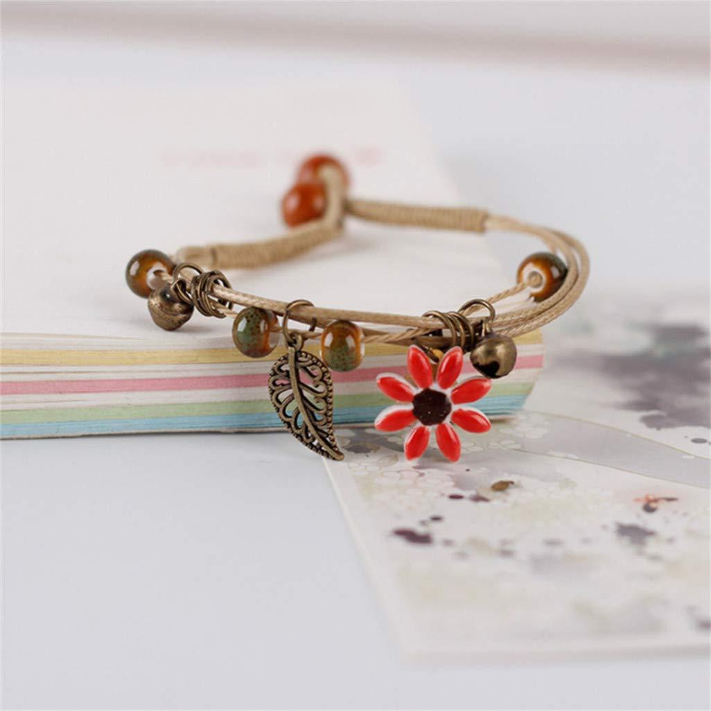 WEILYDF Ceramic Bracelet Classic Charm Women Elegant Jewelry Children Girls Funny Flower Design Pendant Bracelet Exotic Gift
