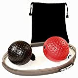 Elastic Head Ball for Boxing Training best for Hand Eye Coordination – Softer than a Tennis Ball - Portable and Lightweight for Training Anywhere – For Adults and Kids Makes A Great Gift.