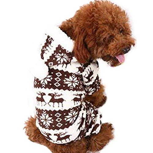 Balai Haustier Hunde Deer Winter Bekleidung Puppy Hunde Warm Kleider Haustier Casual Bekleidung