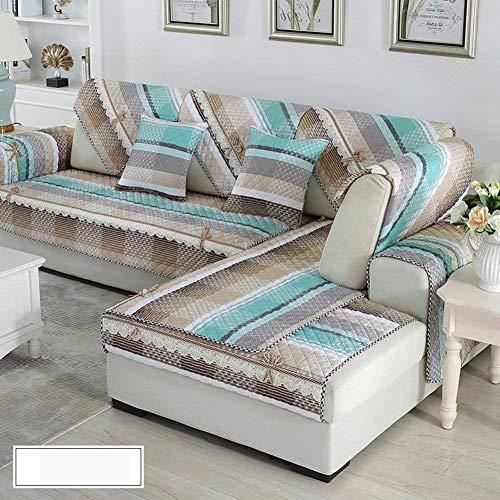 ZTT Suministros de sofá para el hogar, Juego de sofá de algodón/Funda de sofá Antideslizante/Funda de sofá sin Tirantes...