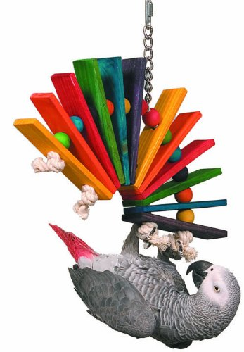 Super Bird Creations 14 by 11-Inch Peacock Sr. Bird Toy, Large by Super Bird Creations