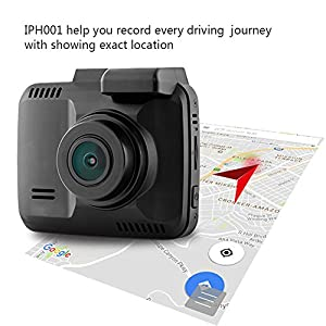 """Dash Cam Car DVR Dashboard Camera Recorder with 4K FHD, Built-In WiFi & GPS, APP Support, G-Sensor, 2.4"""" LCD, 150 Degree Wide-Angle Lens, Loop Recording, Great Night Vision, Parking Monitor By Kidcia"""
