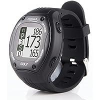 POSMA GT1 Golf Trainer GPS Golf Watch Range Finder, Preloaded Golf Courses, no download no subscription, Black, incl. US, Canada, Europe, Australia, New Zealand