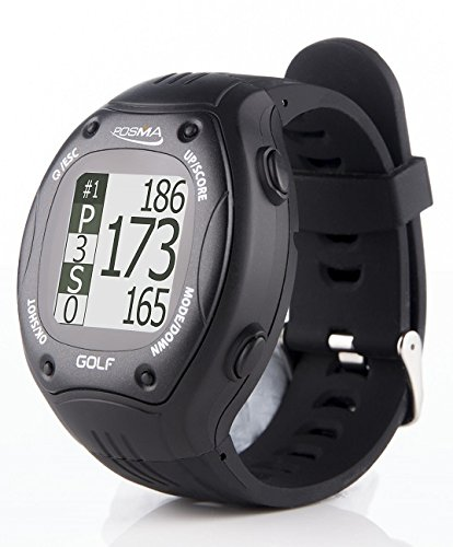 POSMA GT1 Golf Trainer GPS Golf Watch Range Finder, Preloaded Golf Courses, no Download no Subscription, Black, incl. US, Canada, Europe, Australia, New Zealand by POSMA