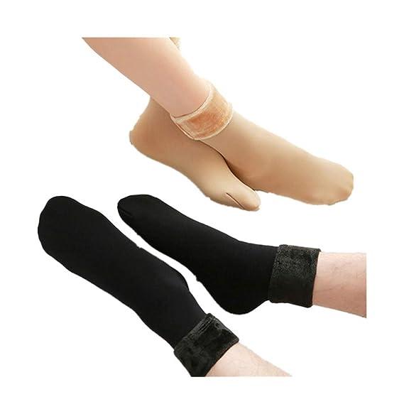 DOGZI Medias de liga,Otoño e invierno Calcetines calientes Espesar Medias Calcetines de cachemira Calcetines