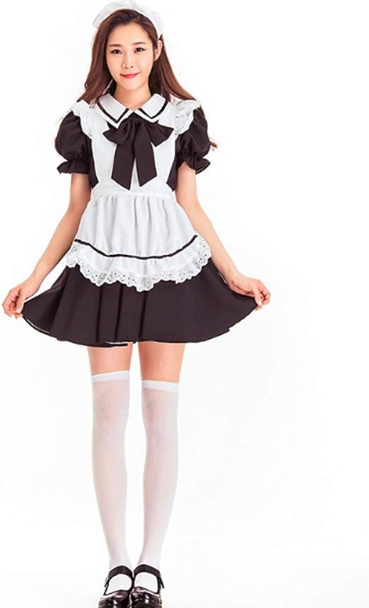 LADIES WAITRESS  MAIDS DRESS OUTFIT BLACK WHITE