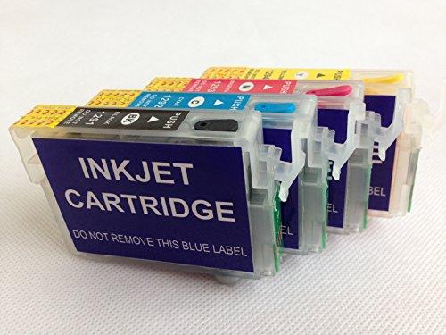 Brand F-INK@ T126 Full Refillable Ink Cartridge For Epson Work Force435 545 840 845 645 635 630 633 60 NX330 NX430 WF 7010 WF-7510 WF-7520 WF-3540 WF-3520 printer 4pcs Ink