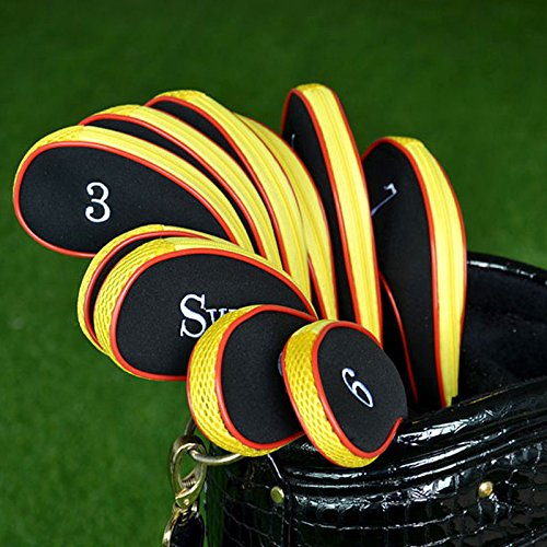 OKOKMALL US--New 10Pcs/Set Golf Iron Headcover Golf Club Cover Sleeve Protective Case