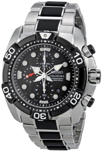 (Seiko Men's SNDA59 Black Dial Velatura Watch)