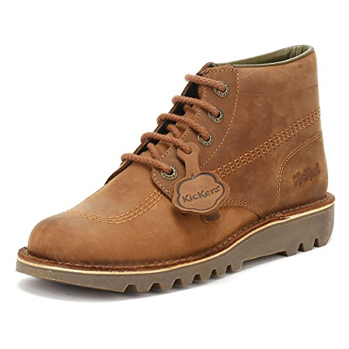 Picture of Kickers Mens Brown Leather Kick Hi Boots