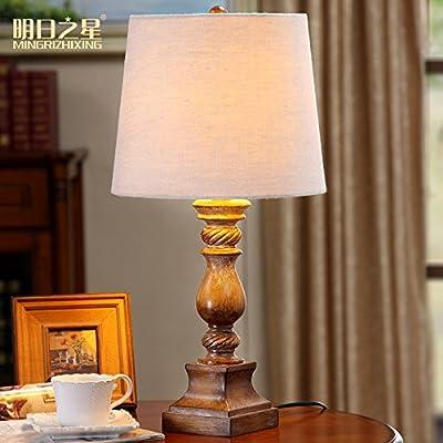 MLPBOOv Lámpara de mesa de madera retro de la lámpara de ...