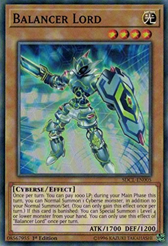 Link Balancer (Yugioh 1st Ed Balancer Lord SDCL-EN005 Common 1st Edition Cyberse Link Cards.)