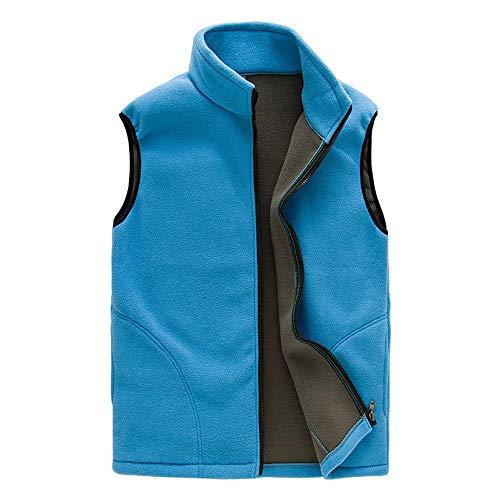 FANSHONN Men's Fleece Vest Men Women Full-Zip Sleeveless Jacket Lightweight Casual Gilet for Outdoor Sports