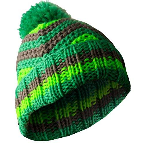 Masterdis de lana, diseño de rayas en Zig Zag verde