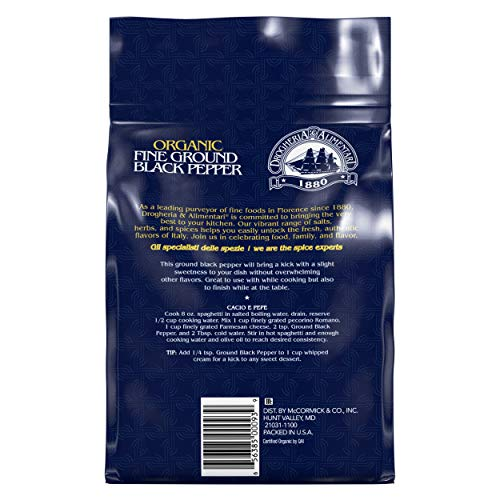 Drogheria & Alimentari Organic Fine Ground Black Pepper, 18.7 oz by Drogheria & Alimentari (Image #1)
