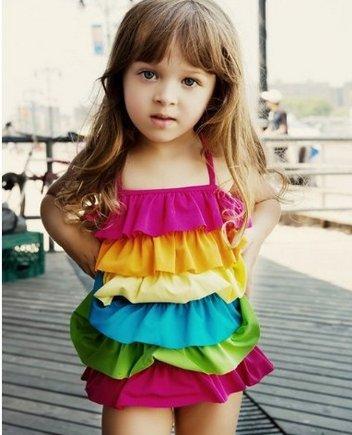 4748192d259c Cute Baby Swimwear Children s Swimwear Piece Dress Female Korean ...