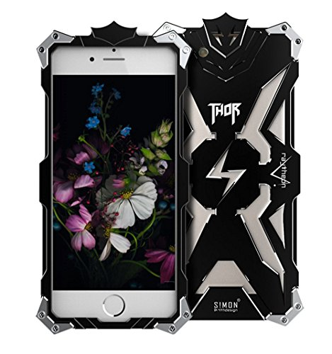 iPhone 7 Case, Lwang Aviation Aluminum Anti-scratch Strong Protection Metal Case for iPhone 7 , Hollow Design Full Signal iPhone 7 Thor Case (thor black)