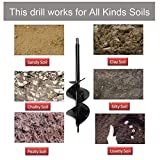 Auger Drill Bit 3x12inch Garden Solid Barrel