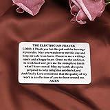 KUIYAI Electrician's Prayer Dog Tag Necklace