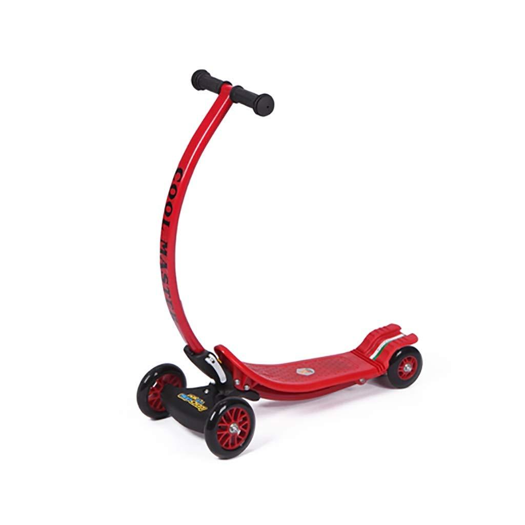【中古】 折り畳み式の四輪子供のスクーター、スタイリッシュな湾曲した反衝突のハンドル、後部ペダルブレーキが付いている重力ステアリングキックスクーターを持つ子供のための携帯用屋外のおもちゃ (色 Red : Red) Red) B07NPN85WV B07NPN85WV Red, MAVAZI(インポートクロージング):895e3dc4 --- a0267596.xsph.ru