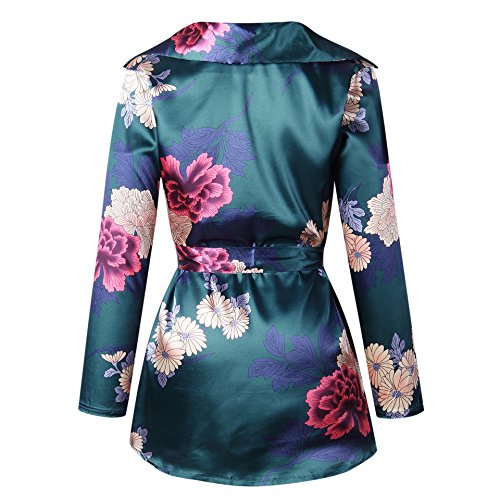 Green neck T shirt Rafago Top Dress V Shirt wT6AxWqpf