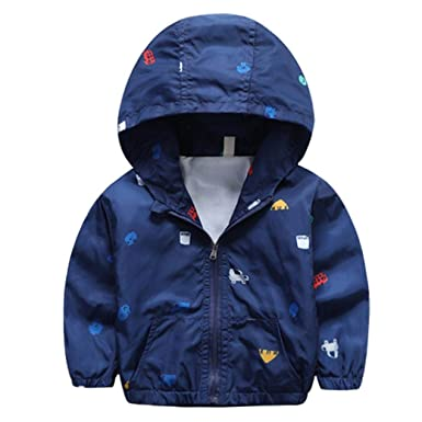 ab1cbe66d381 Outtop(TM) Baby-Boys  Jacket Cute Dinosaur Outerwear Coat Clothing ...