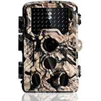 1080P HD Trail Camera,16MP Hunting Game Camera with 65ft Infrared Night Vision,46pcs 3-Zone PIR Sensors,IP56 Waterproof,120°Wide Scouting Angle for Wildlife Surveillance,Home Security or Farm Watching
