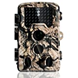 Trail Camera - Hunting Game Camera Wildlife Surveillance Trail Cameras, 16MP 1080P with 65ft Infrared Night Vision, 0.2s Motion Activated, 46pcs No Glow IR LEDs, IP56 Waterproof,120°PIR Sensors,2.4'' LCD Screen,Camo