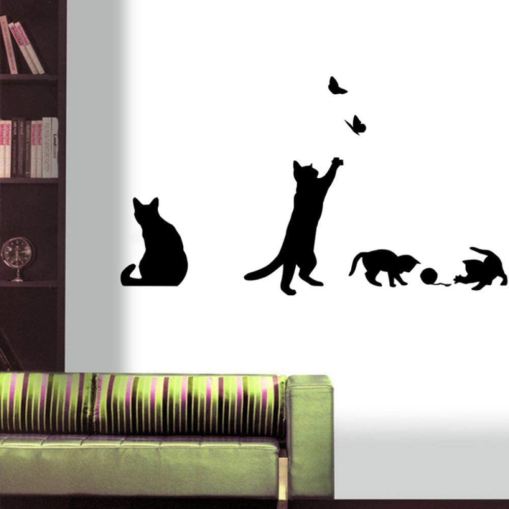 Cat playing Wall Sticker Living room background stairs stickers on the wall Decal Home Decor Decals decoration